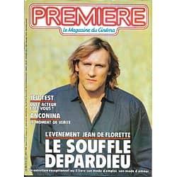 PREMIERE n°113 août 1986  GERARD DEPARDIEU/ ANCONINA/ AUTEUIL