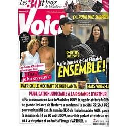 VOICI n°1146 23/10/2009  Gad Elmaleh& Marie Drucker/ Sylvie Brunel & Eric Besson/ Rachida Dati/ Katherine Heigl/ Megan Fox