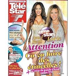 """TELE STAR n°1879 01/10/2012  Lorie & Amel Bent-""""DALS""""/ Hayek & Travolta/ Chauvin/ Sheila/ Jean-Luc Delarue"""