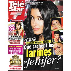 "TELE STAR n°1854 14/04/2012  Jenifer ""The Voice""/ ""Koh-Lanta""/ Catherine Deneuve/ Audrey Lamy"