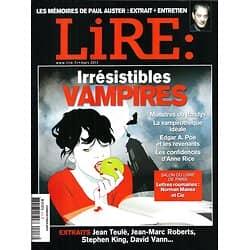LIRE n°413 mars 2013  SPECIAL VAMPIRES/ PAUL AUSTER/ POE/ LETTRES ROUMAINES