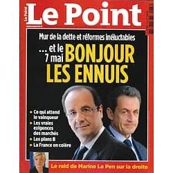 LE POINT n°2067 26/04/2012  Crise et présidentielle: ce qui attend le vainqueur/ Finkielkraut/ Abou Dhabi
