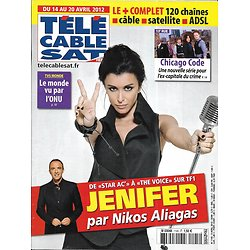 "Télé Cable Sat n°1145 14/04/2012  Jenifer par Nikos Aliagas/ ""Chicago Code""/ Deschamps"