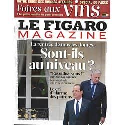 LE FIGARO MAGAZINE n°21181 07/09/2012  Hollande & Ayrault: Sont-ils au niveau?/ Foires aux vins/ La Brenne/ Afrikaners/ Patrick Deville