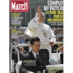 PARIS MATCH n°3289 31/05/2012  Le Pape trahi/ Spécial Cannes/ Giraudeau/ Lagarde/ Charlize Theron/ Soldats français en Afghanistan