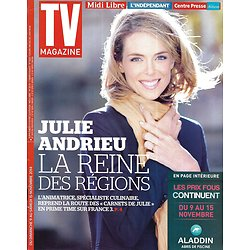 "TV MAGAZINE n°21851 09/11/2014  Julie Andrieu/ ""Engrenages""/ Marie Drucker/ Marie Curie"