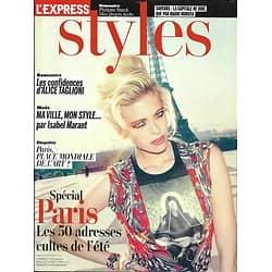 L'EXPRESS STYLES n°3179 06/06/2012  Spécial Paris/ Alice Taglioni/ Beth Ditto/ Isabel Marant