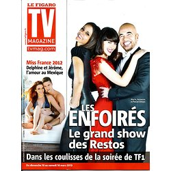 TV MAGAZINE n°21335 10/03/2013  Les Enfoirés: Shy'm, Leroy & Obispo/ Miss France