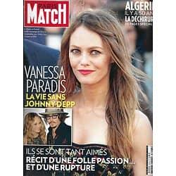 PARIS MATCH n°3293 28/06/2012  Vanessa Paradis & Depp/ Il y a 50 ans: l' Algérie