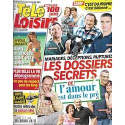 """TELE LOISIRS n°1372 16/06/2012  """"L'amour est dans le pré""""/ Rétro 2011-2012/ """"Desperate Housewives"""""""