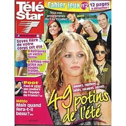 TELE STAR n°1866 07/07/2012  49 potins de l'été/ Vanessa Paradis/ jean-Luc Reichmann/ Kylie Minogue