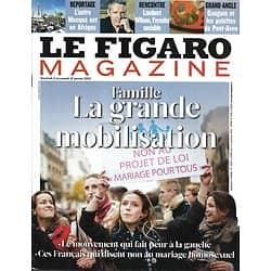 LE FIGARO MAGAZINE n°21287 11/01/2013  Famille: la grande mobilisation/ Lambert Wilson/ Gauguin/ Le Nôtre/ Macao