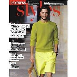 L'EXPRESS STYLES n°3184 11/07/2012  Best of défilés hommes/ Mia Wasikowska/ Suisse