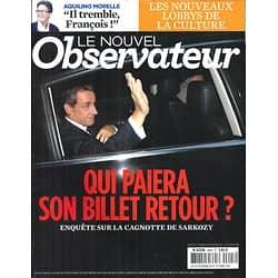 LE NOUVEL OBSERVATEUR n°2603 02/09/2014  Cagnotte Sarkozy/ Lobbys culture/ Ebola/ Ken Follett