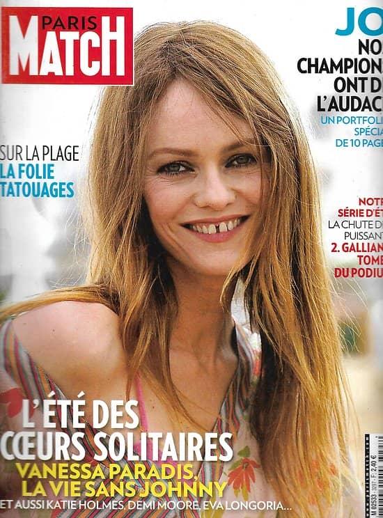 PARIS MATCH n°3297 26/07/2012  Vanessa Paradis/ Français aux JO de Londres/ John Galliano/ Monica Bellucci/ Incendies en Espagne