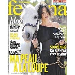 VERSION FEMINA n°569 25/02/2013  Spécial Cosméto/ Agnès Jaoui/ Mode Mexicaine/ L'île Maurice