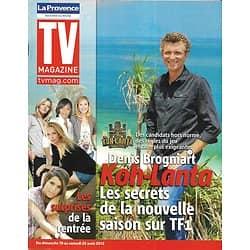 "TV MAGAZINE n°21164 18/08/2012  Denis Brogniart ""Koh-Lanta""/ Femmes de la rentrée"