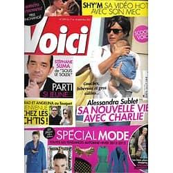 VOICI n°1295 01/09/2012  Alessandra Sublet/ Spécial Mode/ Stéphane Slima/ Brad Pitt & Angelina Jolie/ Shy'm/ Jean-Luc Delarue
