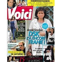 VOICI n°1296 08/09/2012  Anne Sinclair/ Carla Bruni/ Johnny Hallyday/ John Travolta/ Tom Cruise/ Heidi Klum