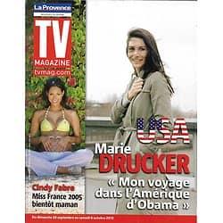 TV MAGAZINE n°21199 29/09/2012 Marie Drucker/ Cindy Fabre/ Sébastien Loeb/ Noah Wyle/ Lorie