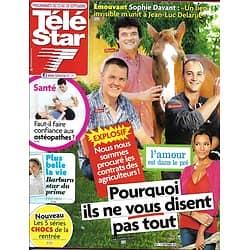 """TELE STAR n°1877 22/09/2012  """"L'amour est dans le pré""""/ Belmondo/ Lorie/ Charlize Theron"""