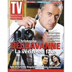 TV MAGAZINE n°21205 05/10/2012  Christophe Dechavanne/ Bogdanov/ Pierre Arditi/ Dina Eastwood