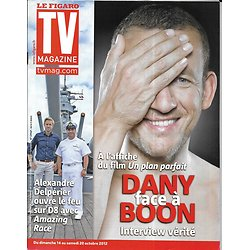 "TV MAGAZINE n°21211 12/10/2012  Dany Boon/ Delpérier ""Amazing Race""/ Roger Moore/ Mathilde Seigner/ Miss France"