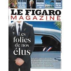 LE FIGARO MAGAZINE n°21265 14/12/2012   Les folies de nos élus/ Richard Gere/ Style Rothschild/ Maurice, l'île des tentations