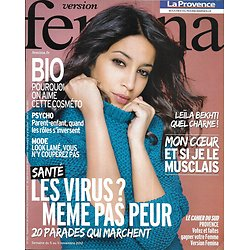 VERSION FEMINA n°553 05/11/2012  Leïla Bekhti/ Dossier santé anti-virus/ Vienne
