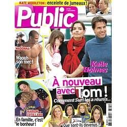 PUBLIC n°491 07/12/2012  Katie Holmes & Tom Cruise/ Marion Cotillard/ Kate Middleton/ Brahim Zaibat/ Les anciens de Star academy