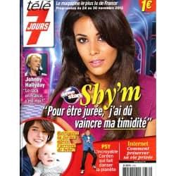 TELE 7 JOURS n°2739 24/11/2012   Shy'm/ Johnny Hallyday/ Céline Dion & Dicaire