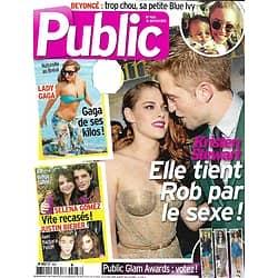 PUBLIC n°488 16/11/2012  Kristen Stewart & Robert Pattinson/ Lady Gaga/ Beyoncé/ Miss France/ Selena Gomez & Justin Bieber