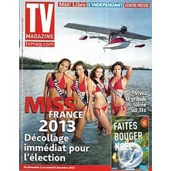 TV MAGAZINE n°21253 30/11/2012  Les Miss France à l'île Maurice/ Jennifer Morrison