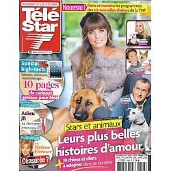 TELE STAR n°1888 08/12/2012  Les Stars & les Animaux/ Laëtitia Milot/ Larry Hagman/ Mylène Farmer