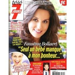 TELE 7 JOURS n°2741 08/12/2012   Faustine Bollaert/ Hagman/ Izia/ Miss France/ Pokora