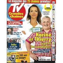 """TV GRANDES CHAINES n°241 22/06/2013  """"L'amour est dans le pré""""/ """"Dallas""""/ Tour de France"""