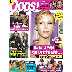 "OOPS! n°124 30/11/2012  Lorie ""DALS""/ Miss France/ Star Academy/ Olivier Martinez/ Nadège & Thomas"