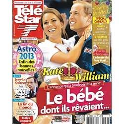TELE STAR n°1889 15/12/2012  Kate & William/ Jean-Luc Delarue/ Simon Baker/ Patrick Bruel/ Maurane