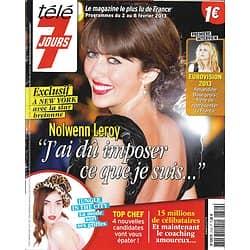 TELE 7 JOURS n°2749 02/02/2013 Nolwenn Leroy/ A.Bourgeois/ L.Vonn/ Top Chef/ E.Clarke