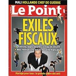 LE POINT n°2105 17/01/2013  Exilés fiscaux/ Le chaos malien/ Mariage pour tous/ Le nouveau Hollande/Thé ou café?