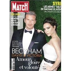 PARIS MATCH n°3329 07/03/2013  David&Victoria Beckham/ Benoît XVI/ Syrie/ Marina Hands/ Jean Rochefort