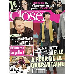 CLOSER n°392 17/12/2012  Florence Foresti/ Arthur/ Claire Chazal/ Demi Moore