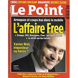 LE POINT n°2107 31/01/2013  Affaire Free/ Ibrahimovic/ Luc Ferry/ Rimbaud & Verlaine/ Mali