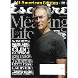 ESQUIRE vol.151 n°1 janvier 2009  Clint Eastwood/ Ce que ces personnalités ont appris