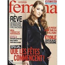 VERSION FEMINA n°559 17/12/2012  Spécial Fêtes/ Valérie Lemercier & Donzelli/ Madagascar