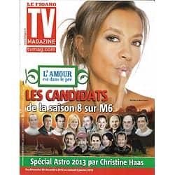 """TV MAGAZINE n°21277 28/12/2012  """"L'amour est dans le pré"""" Karine Le Marchand/ Claire Keim"""