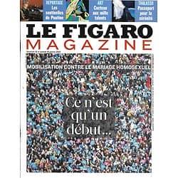 LE FIGARO MAGAZINE n°21293 18/01/2013  Manif pour tous/ Georges Simenon à Tahiti/ Jean Cocteau/ Elite du Kremlin/ Laconie
