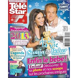"TELE STAR n°1892 05/01/2013  Fabienne Carat & Stéphane Henon ""Plus Belle La Vie""/ Dr House/ Jennifer Aniston"