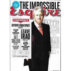 ESQUIRE vol.154 n°1 august 2010   Bill Clinton/ The impossible issue