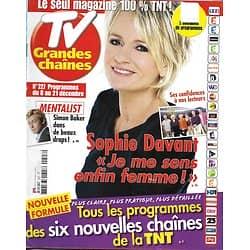 TV GRANDES CHAINES n°227 08/12/2012  Sophie Davant/ Mentalist/ Hagman/ Delon & Darc